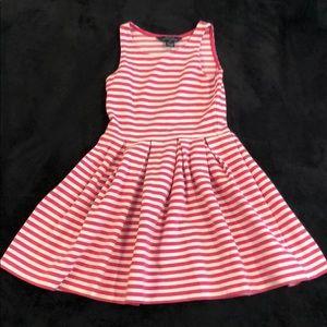 White&Pink stripes dress